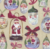 Servietten 33x33 cm - CHRISTMAS DECORATION cream