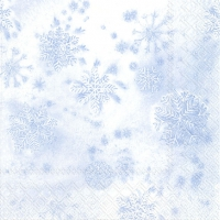 Servietten 33x33 cm - CRYSTALS light blue