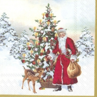 Servietten 33x33 cm - ANNUAL CHRISTMAS SANTA (V&B)