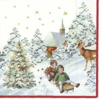 Servietten 33x33 cm - ANNUAL CHRISTMAS SNOW (V&B)