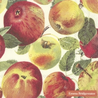 Servietten 33x33 cm - APPLES cream