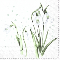 Servietten 33x33 cm - SPRING GREETINGS