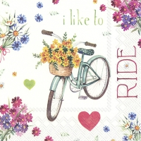 Servietten 33x33 cm - I LOVE MY BIKE