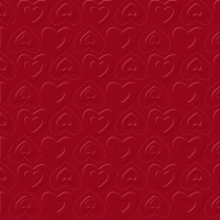 Servietten 33x33 cm - CARINO UNI dark red