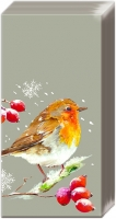 handkerchiefs - WINTER ROBIN linen