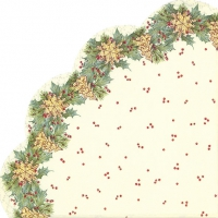 Servietten - Rund - CHRISTMAS GARLAND cream