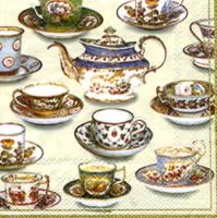 Servietten 25x25 cm - FIVE O CLOCK TEA cream