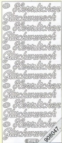 Stickers Glitzer-Stickers - blau