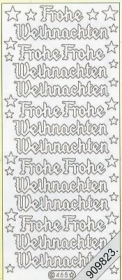 Stickers Glitzer-Stickers - gold