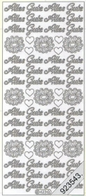 Stickers 0423 - Alles Gute - silber