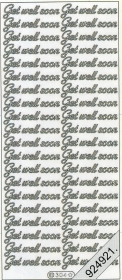 Stickers english - Get well soon - silber