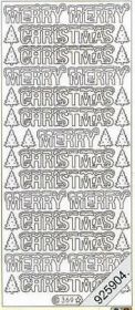 Stickers Merry Christmas - gold