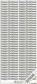 Stickers english - Happy Christmas - gold