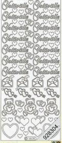 Stickers Text Stickers -  Suomi - silber
