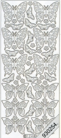 Stickers Schmetterling gold - gold
