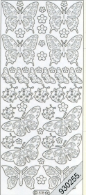 Stickers - 0818 - Marienk.+ Schmetterling multicolor
