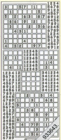 Stickers Sudoku gold - gold