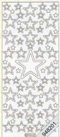 Stickers 0856 - Sterne I - silber