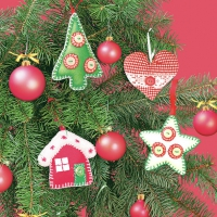 Servietten 33x33 cm - Xmas Tree Handmade Decorations