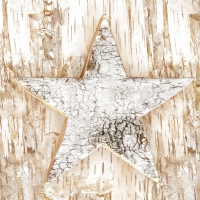Servietten 33x33 cm - Wooden Eco Star