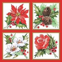 Servietten 33x33 cm - Painted Xmas Decorations in Frames
