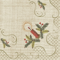 Servietten 33x33 cm - Classic Christmas Embroidery