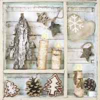 Servietten 33x33 cm - Natural Eco Winter Decorations