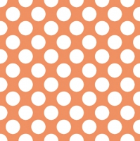 Servietten 33x33 cm - Polka Dots Orange