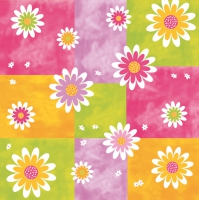 Servietten 33x33 cm - Blumen on Karos
