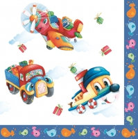 Servietten 33x33 cm - Happy Vehicles