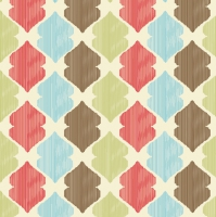 Servietten 33x33 cm - Ethnic Vintage Wallpaper