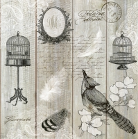 Lunch Servietten Vintage Birds & Cages