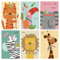 Servietten 33x33 cm - ZOO Friends