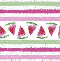 Servietten 33x33 cm - Watermelon with Stripes