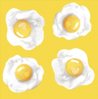 Servietten 33x33 cm - Fried Eggs Yellow Green