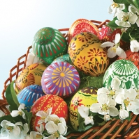 Servietten 33x33 cm - Decorated Easter Eggs