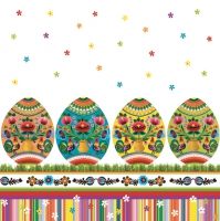 Servietten 33x33 cm - Polish Folk Eggs