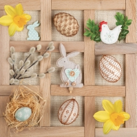 Lunch Servietten easter collage frame