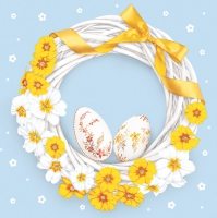 Servietten 33x33 cm - Easter Wreath