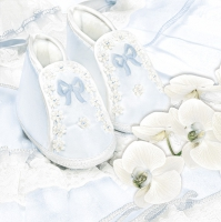 Servietten 33x33 cm - Christening Shoes Blue