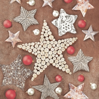 Servietten 33x33 cm - Christmas Crafted Stars
