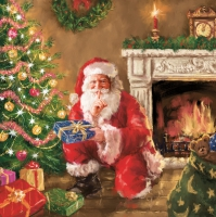 Servietten 33x33 cm - Santa´s Secret Visit