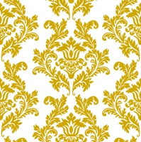 Servietten 33x33 cm - White & Gold Wallpaper