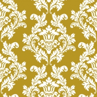 Servietten 33x33 cm - Gold & White Wallpaper