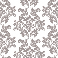 Servietten 33x33 cm - White & Silver Wallpaper