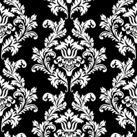 Servietten 33x33 cm - Black & White Wallpaper