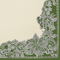 Servietten 33x33 cm - Richelieu Lace Green