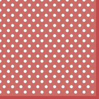 Servietten 33x33 cm - Red Dots