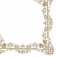Servietten 33x33 cm - Frame Ornaments White