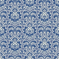 Servietten 33x33 cm - Wallpaper Pattern Warm Navy